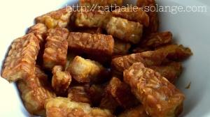 Krokant gebakken tempé