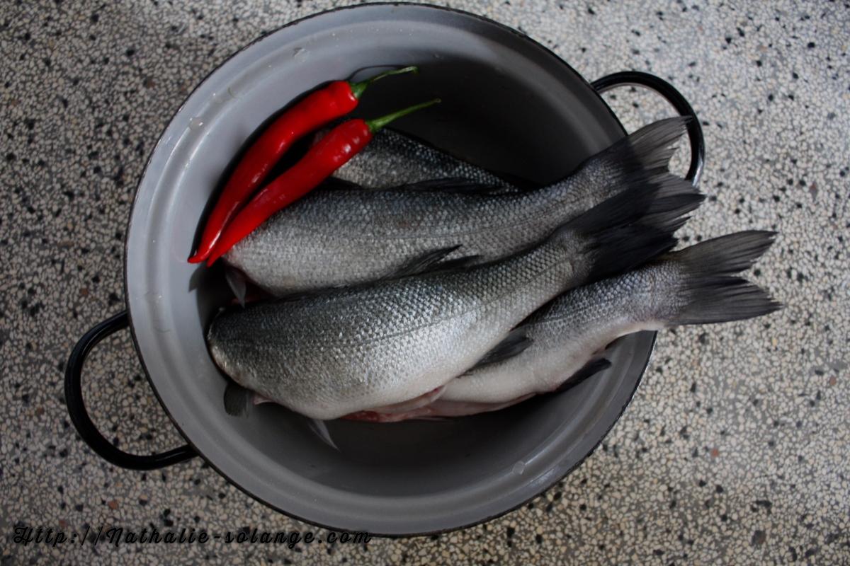 Vis in sake- mirinsaus met groenten